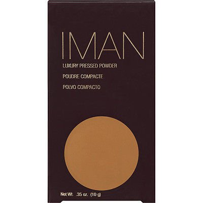 Iman Luxury Pressed Powder (0.35 oz/ 10g) - Earth Deep