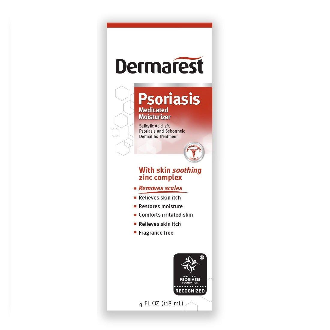Dermarest Psoriasis Moisturizer with 2% Salicylic Acid, 4oz