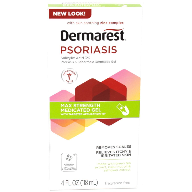 Dermarest Psoriasis Max Strength Gel with 3% Salicylic Acid, 4 oz
