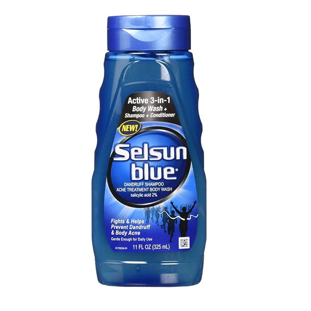 Selsun Blue Active 3-in-1 Body Wash + Shampoo + Conditioner (11 fl. oz/ 325 ml)