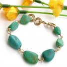 Bracelet Gold with Turquoise - B219