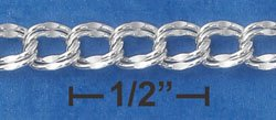 Sterling Silver 7 inch Charm Bracelet 7mm wide