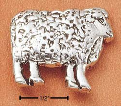 Cute Sterling Silver Sheep Pendant