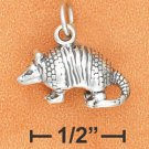 Sterling Silver Antiqued Armadillo Charm