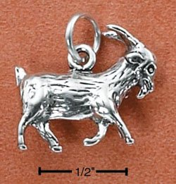 Sterling Silver Billy Goat Charm