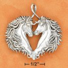 Gorgeous Sterling Silver Antiqued Horse Head Pendant