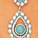 Fabulous Sterling Silver and Turquoise Flower Adjustable Necklace