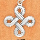 Beautiful Sterling Silver Irish Celtic Endless Knot Pendant