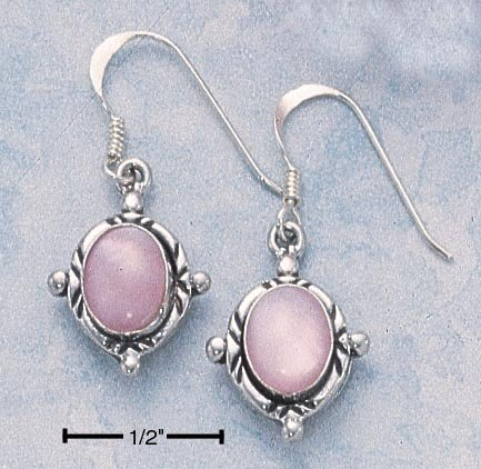 Sterling Silver Pink Mother of Pearl Earrings