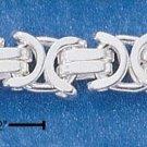 Sterling Silver Flat Byzantine 6mm Chain 8 inch bracelet