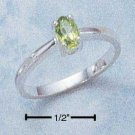 Sterling Silver ring with genuine Peridot oval stone size 6