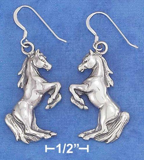 Sterling Silver Rearing Horses earrings