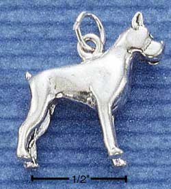 Sterling Silver three dimensional Boxer Dog Charm