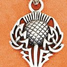 Sterling Silver Spirit of Alba Thistle Pendant