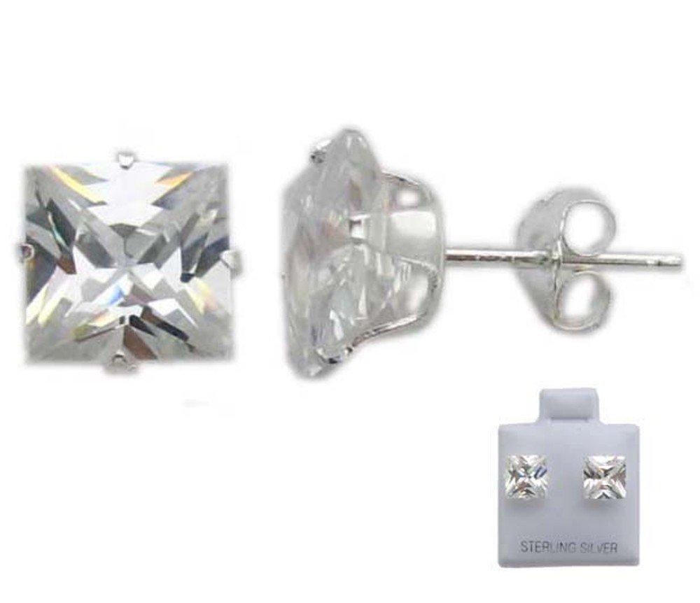 Pretty Sterling Silver Clear CZ Cubic Zirconia Earrings
