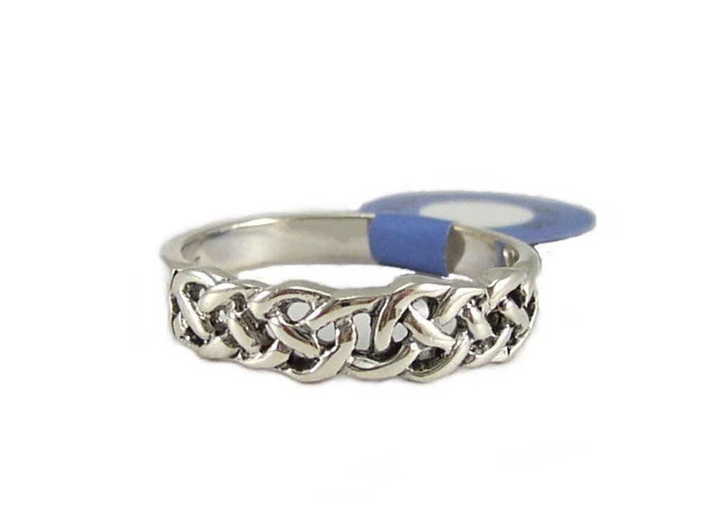 Sterling Silver Celtic Weave Ring Size 6
