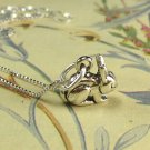 "Sterling Silver Bunny Rabbit and 18"" chain"
