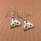 Sterling Silver Celtic Trinity Knot Dangle Earrings