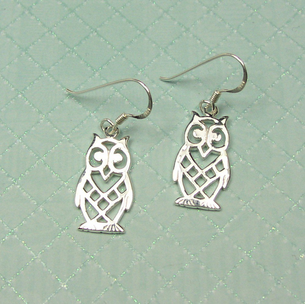 Sterling Silver Owl filigree Earrings
