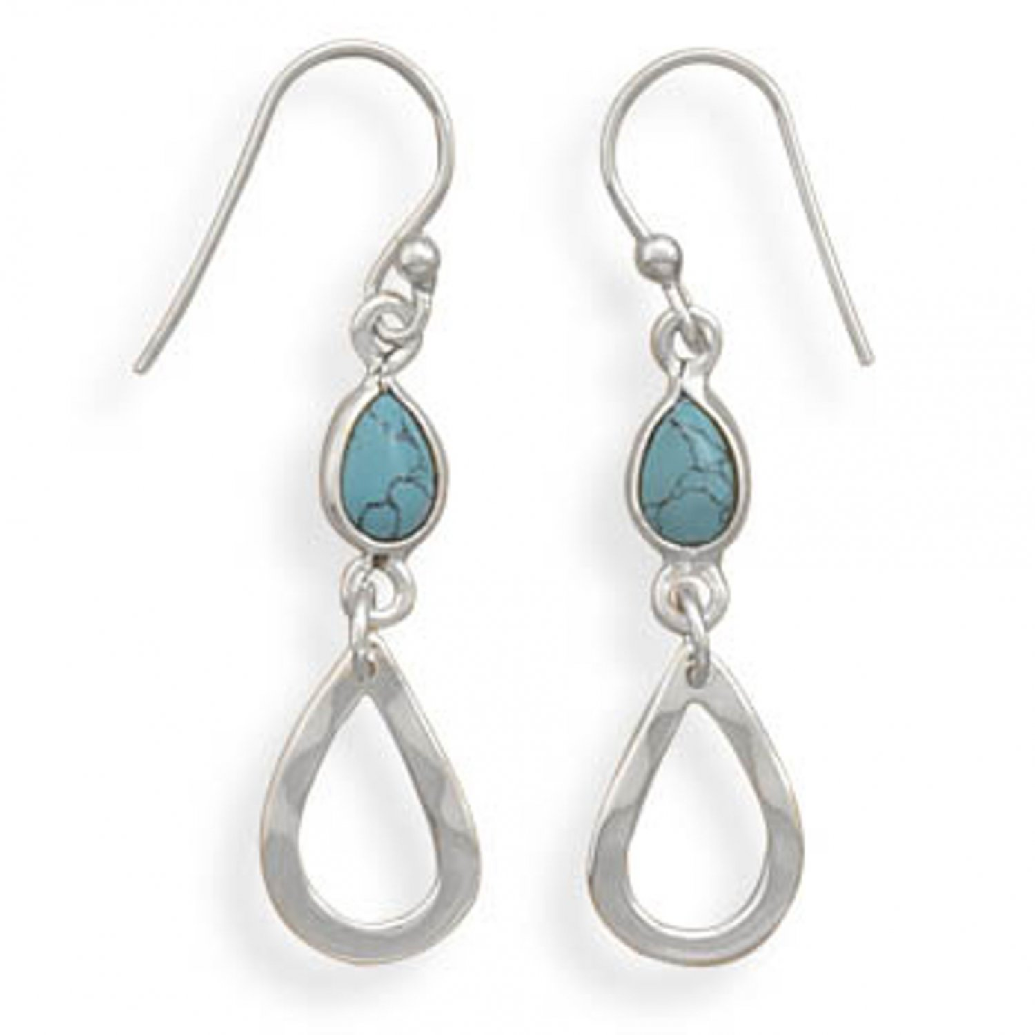 Sterling Silver Turquoise Drop Dangle Earrings