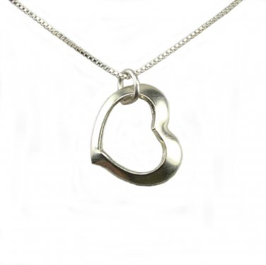 Floating Sterling Silver Heart Charm