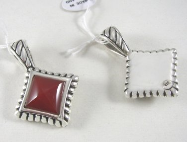Elegant Sterling Silver and Carnelian Pendant