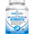 Advanced Probiotic Extra Strength Supplement 60 Count 30 Day Supply by Health Labs Nutra