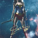 GIA GADOT - STUNNING NEW WONDER WOMAN POSE - HAND SIGNED AUTOGRAPHED PHOTO WITH COA