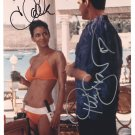 PIERCE BROSNAN & HALLE BERRY - DIE ANOTHER DAY BOND MOVIE - HAND SIGNED AUTOGRAPHED PHOTO WITH COA