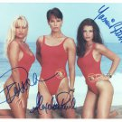 BAYWATCH -=TRIPLE SIGNED=- PAMELA - ALEXANDRA - YASMINE - HAND SIGNED AUTOGRAPHED PHOTO WITH COA