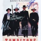 TOMBSTONE THE MOVIE (1995) -=4=- MAIN CAST HAND SIGNED AUTOGRAPHED PHOTO WITH COA