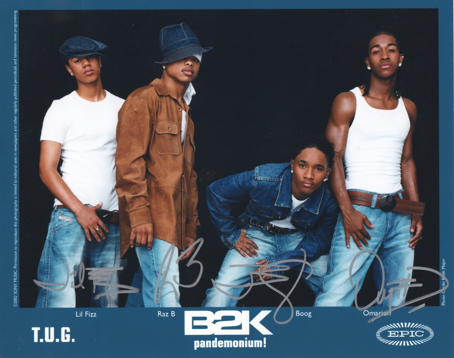 B2K BOYS BAND - ALL MEMBERS - HAND SIGNED AUTOGRAPHED PHOTO WITH COA