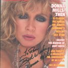 DONNA MILLS - 1989 COMPLETE PLAYBOY MAG - HAND SIGNED AUTOGRAPHED MAG WITH COA