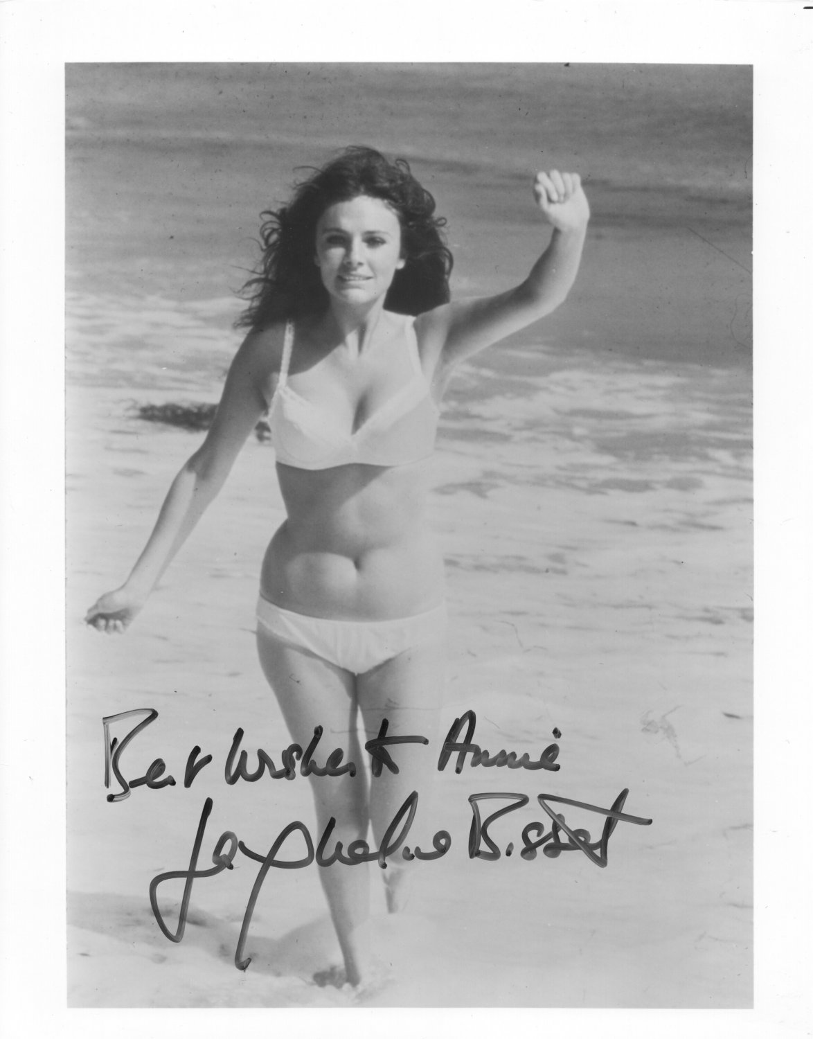 JACQUELINE BISSET - SEXY FRENCH ACTRESS - HAND SIGNED AUTOGRAPHED PHOTO WITH COA
