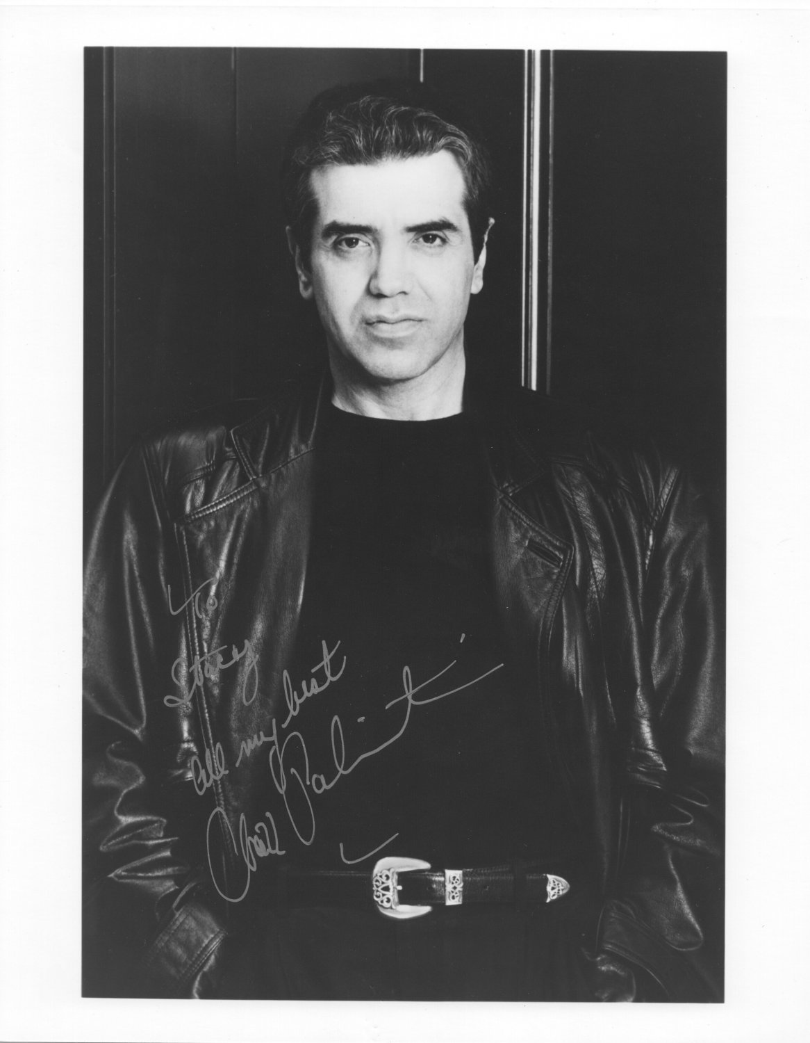 CHAZ PALMINTERI - OUTSTANDING CHARACTER ACTOR - HAND SIGNED AUTOGRAPHED PHOTO WITH COA
