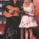 CARRIE UNDERWOOD ~ BRAD PAISLEY - OUTSTANDING DOUBLE HAND SIGNED AUTOGRAPHED PHOTO WITH COA