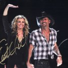 FAITH HILL ~ TIM McGRAW - DOUBLE HAND SIGNED AUTOGRAPHED PHOTO WITH COA