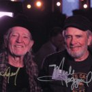WILLIE NELSON ~ MERLE HAGGARD - COUNTRY LEGENDS - DOUBLE - HAND SIGNED AUTOGRAPHED PHOTO WITH COA