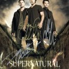 SUPERNATURAL TV SHOW STARS -=3=- HAND SIGNED AUTOGRAPHED PHOTO WITH COA