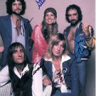 FLEETWOOD MAC BAND -=ALL MEMBERS=- EARLY POSE HAND SIGNED AUTOGRAPHED PHOTO WITH COA