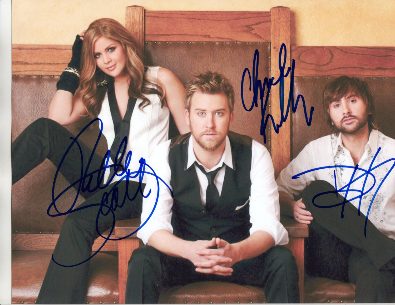 LADY ANTEBELLUM BAND - AWESOME COUNTRY - HAND SIGNED AUTOGRAPHED PHOTO WITH COA