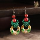 Chinese style  earrings vintage design  cloisonn ear drop women jewelry earrings