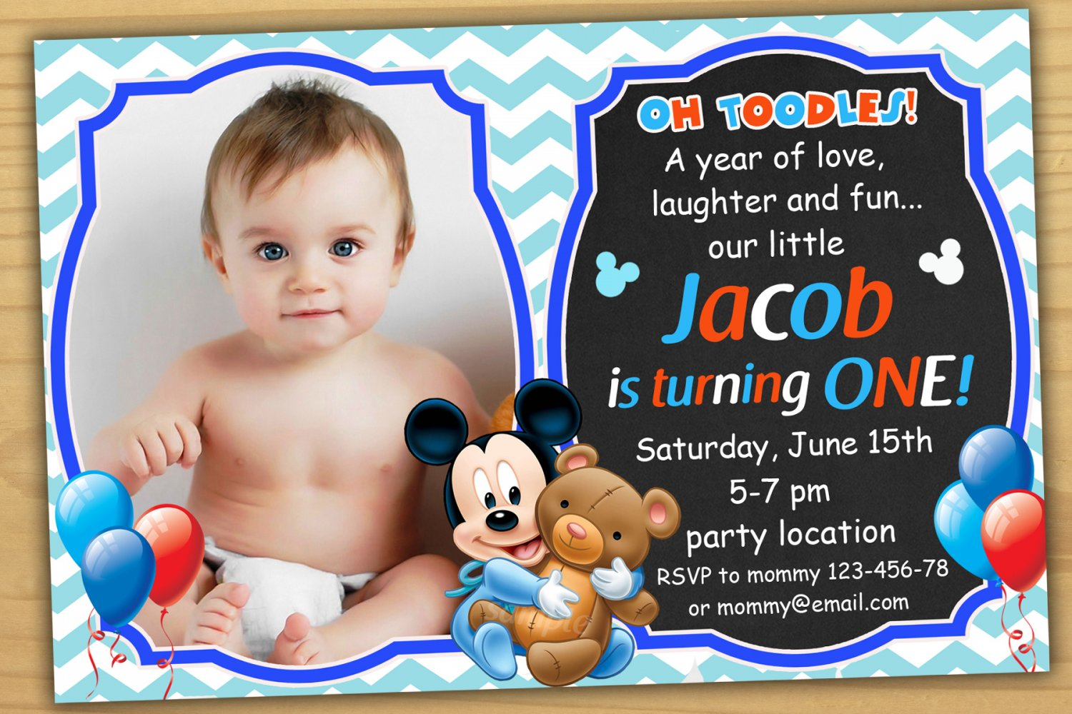 Baby mickey mouse invitationmickey mouse first birthday invitation baby mickey mouse invitationmickey mouse first birthday invitationbaby mickey mouse invitations filmwisefo
