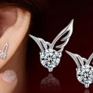 $5 Angel Wings Crystal Ear Stud Earrings