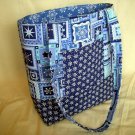 Structured Large Tote, Diaper bag, Knit or Sew Tote, Carry all - Winter Snow