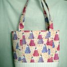 Structured Large Tote, Diaper bag, Knit or Sew Tote, Carry all - Wedding Cake