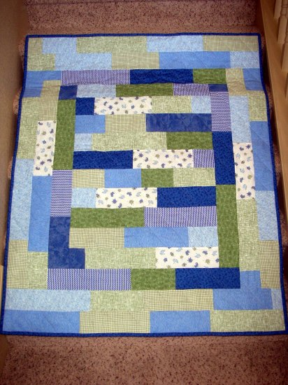 "Ocean Theme Kiddie Quilt with BONUS Travel Pillowcase - Blue, Green - 45.5"" x 55.5"""