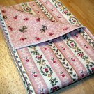 Pink Stripes with Buds - Double Sided Cloth Napkins - Set of 4