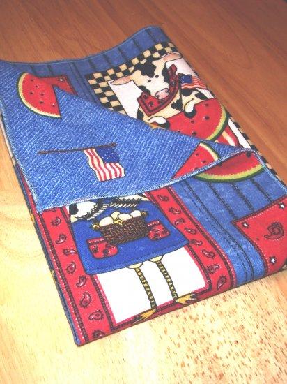 Barnyard BBQ - Double Sided Cloth Napkins - Set of 4