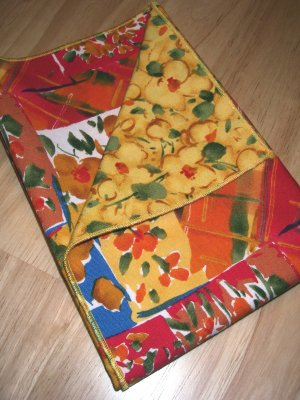 Watercolor Theme - Yellow - Double Sided Cloth Napkins - Set of 4